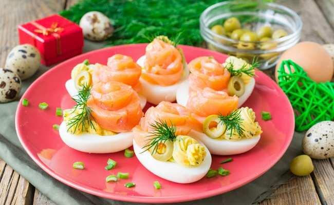 фаршированные яйца простой рецепт