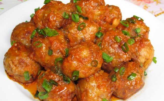 Фрикадельки с подливой в томатном соусе – пошаговый рецепт с фото