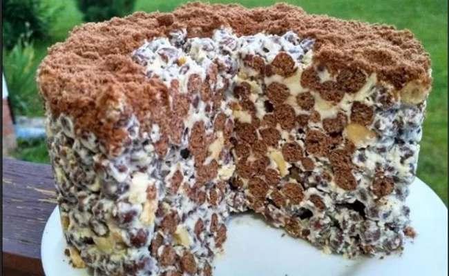Торт «Муравейник» без выпечки