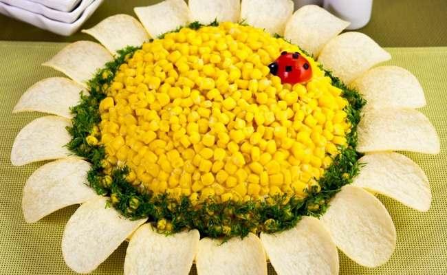 классический салат подсолнух