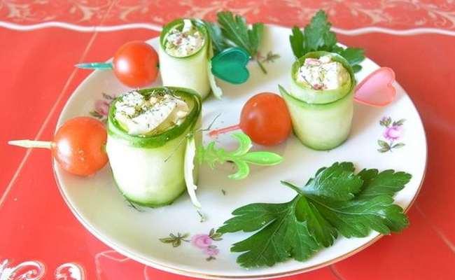 Роллы из огурцов с крабовыми палочками и яйцом – пошаговый рецепт с фото