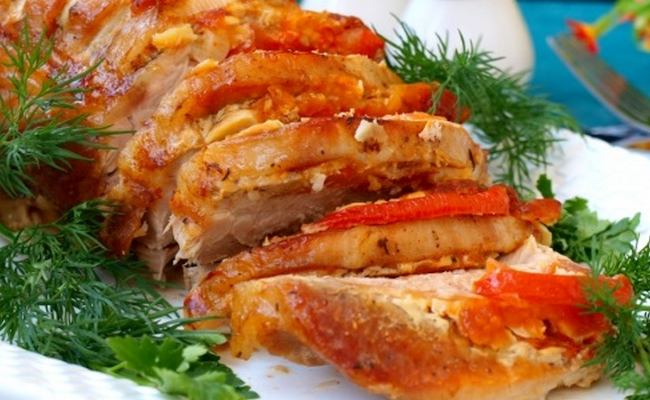 Мясо свинины гармошкой в духовке – рецепт с фото на праздничный стол