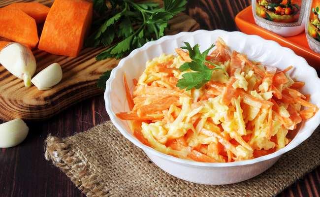 салат к мантам с морковью