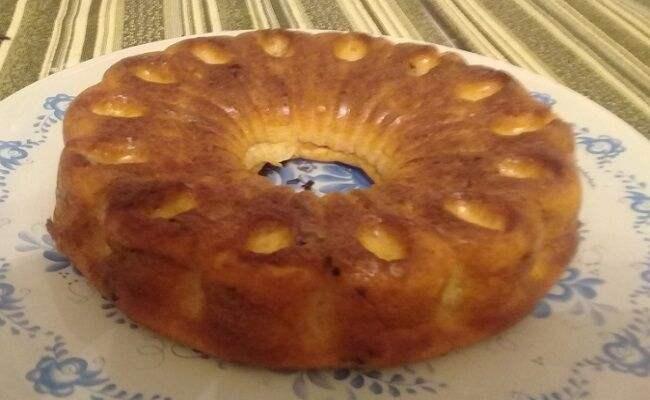 Творожный кекс на кефире в духовке