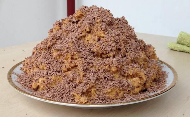 «Муравейник» из печенья без выпечки