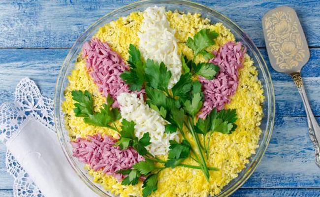 салат сирень на 8 марта