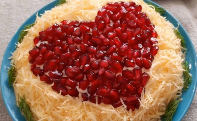Салаты в форме сердца