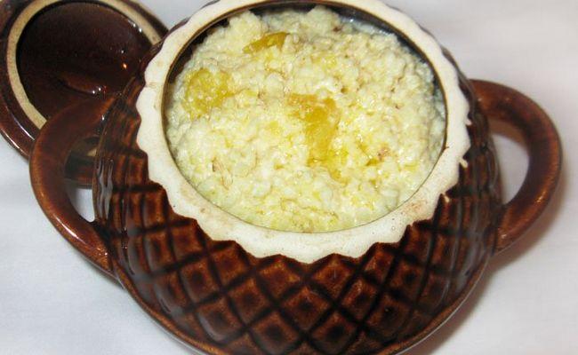 рисово-пшённая каша в духовке