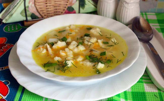 Вкусный суп с острыми галушками