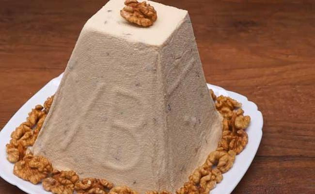 Карамельная пасха без яиц со сгущённым молоком «Превкуснейшая»