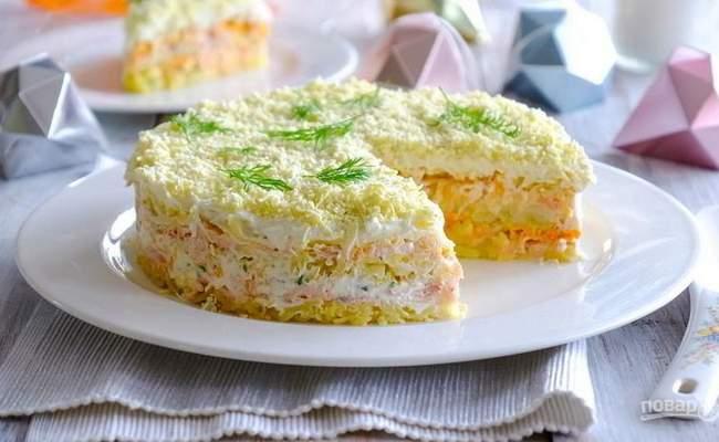 салат мимоза без моркови