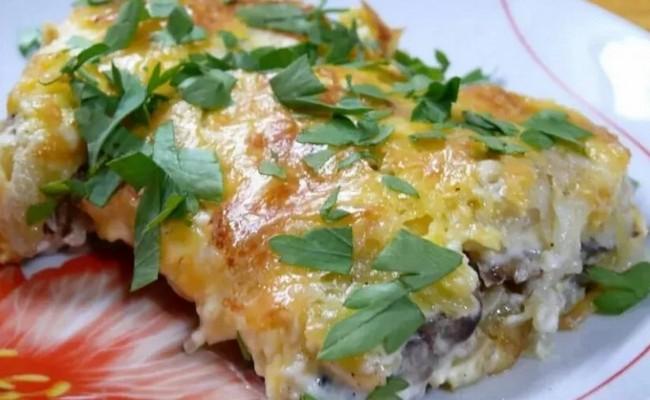 Картофельная запеканка с рыбой – простой рецепт в духовке с фото
