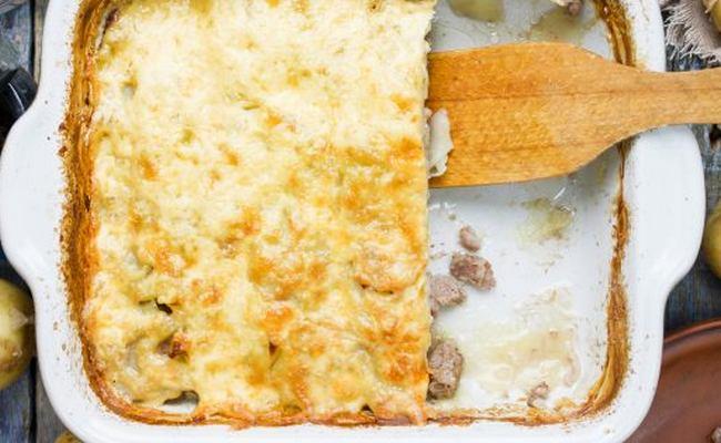 Картофельная запеканка с курицей и грибами – рецепт с фото пошагово