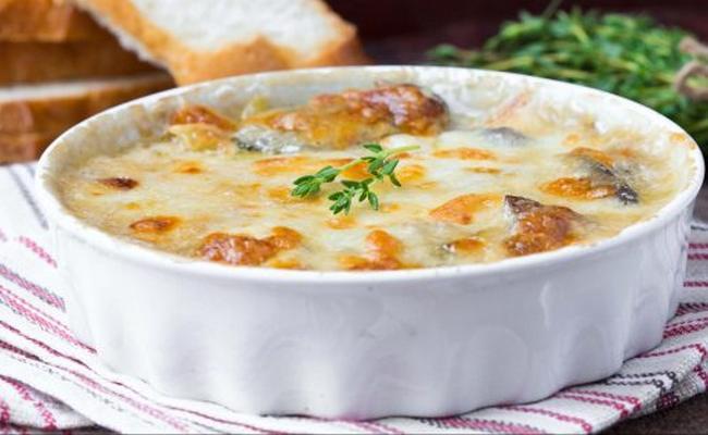 Картофельная запеканка с грибами в духовке – рецепт с подробными фотографиями