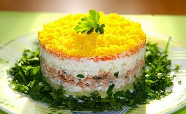салат мимоза со шпротами