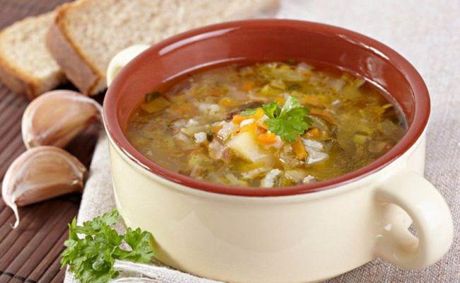Постный лёгкий грибной суп