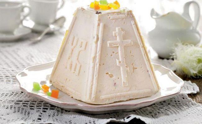 творожная пасха со сгущёнкой и белым шоколадом