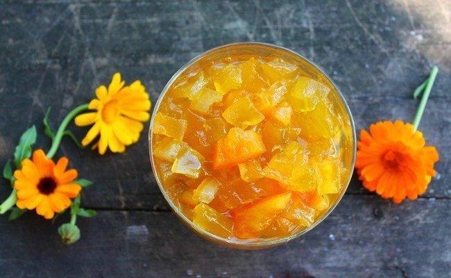 Варенье из моркови на зиму с календулой и лимоном «На здоровье!»