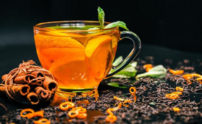 чай для взрослых с мандарином и коньяком