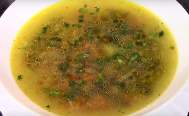 Суп с макаронами без мяса на грибном бульоне