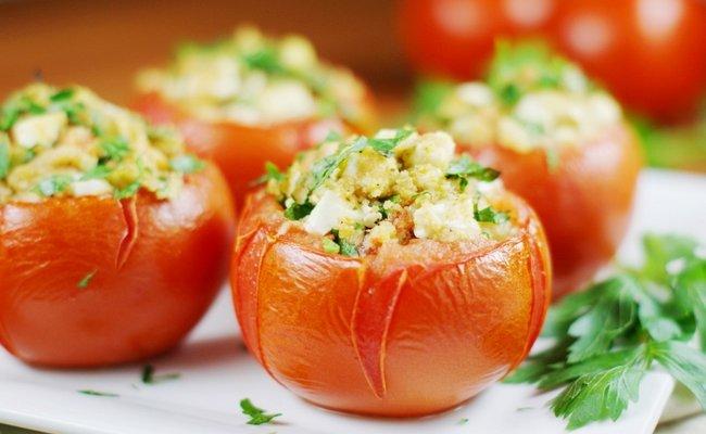 помидоры, фаршированные грибами