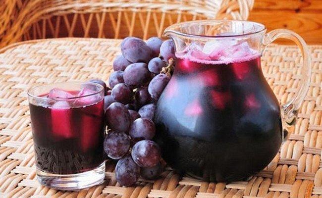 Рецепт компота из винограда сорта Изабелла на 3 литровую банку без стерилизации