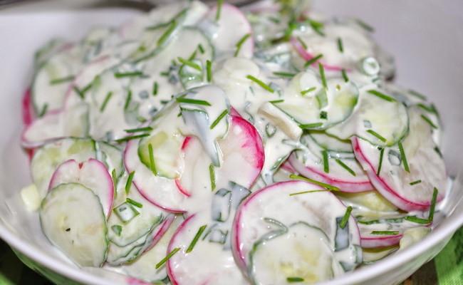 традиционный салат из редиса