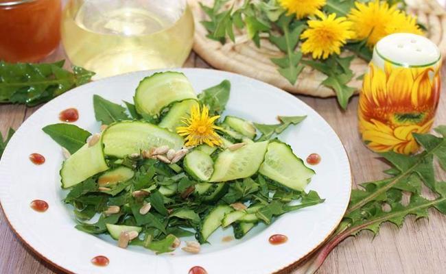 салат из одуванчика витаминный