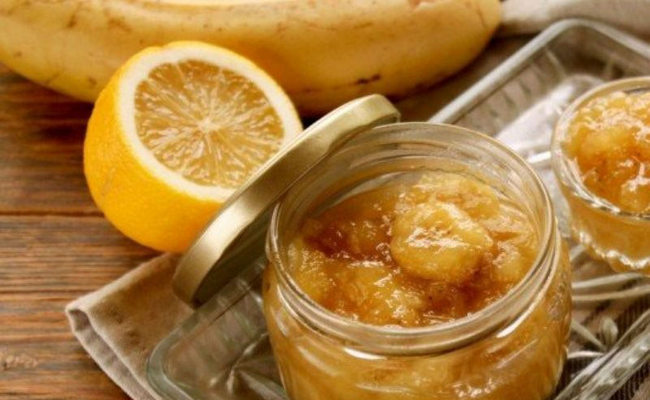 варенье с лимоном, апельсином и бананами