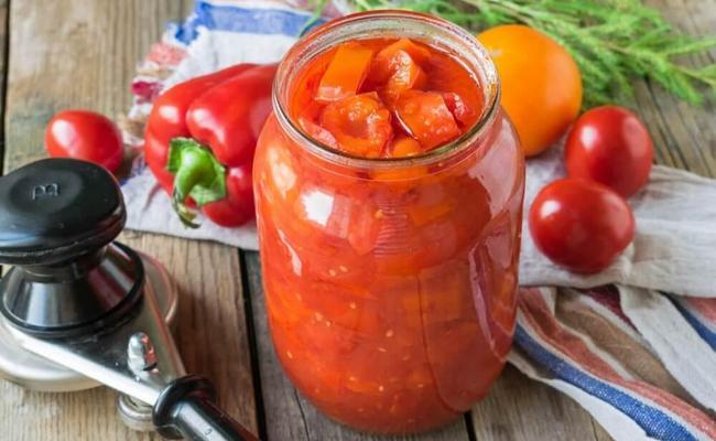 Рецепт лечо из перца на зиму с томатным соком без моркови