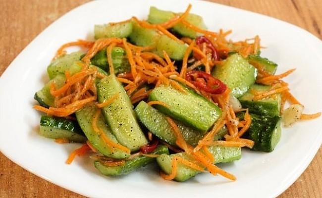 Рецепт корейской моркови на зиму в банках с огурцом