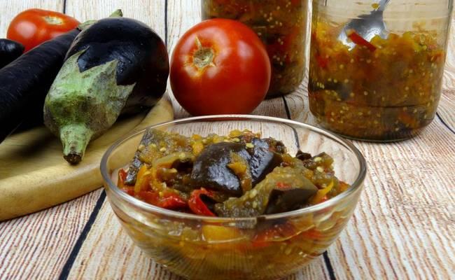 Рецепт лечо из баклажан и перца на зиму без стерилизации с чесноком