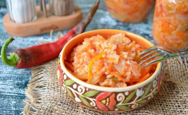 простой рецепт лечо с рисом на зиму
