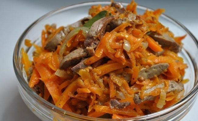 Морковь по-корейски в банки на зиму с грибами