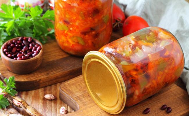 Рецепт лечо с красной фасолью и морковью на зиму