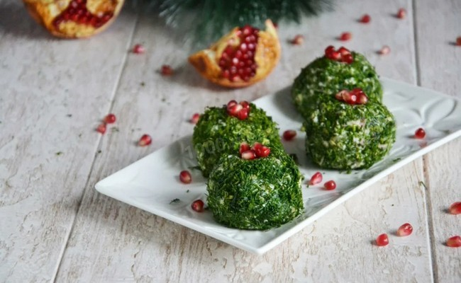 изумрудные шары салат на новый год как закуска