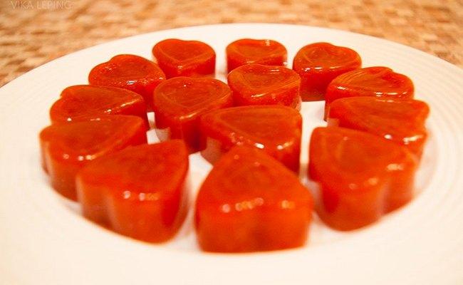 Морковный мармелад с манго и добавлением мака
