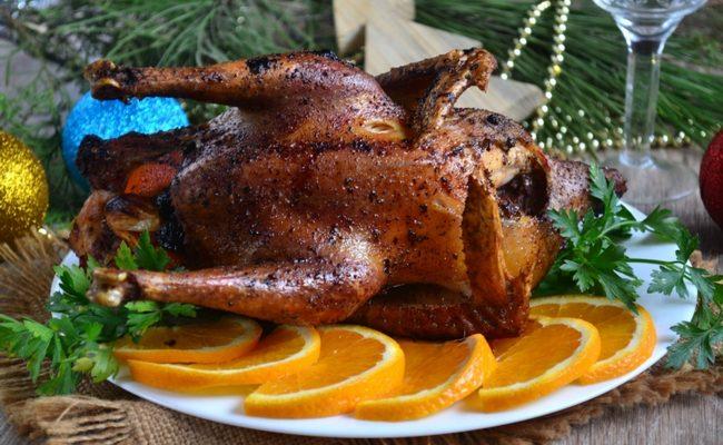 запечёная курица на Новый год в духовке
