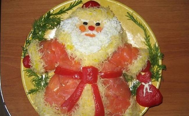 Вкусный салат «Дед Мороз» - пошаговый рецепт с фото