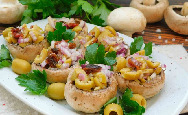 Рецепт фарширования с оливками и вялеными томатами