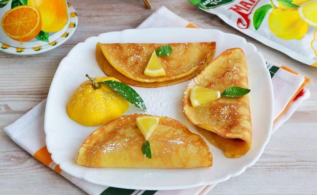 блины лимонные