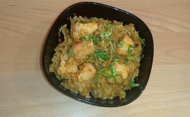 Курица с капустой и рисом в мультиварке