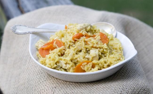 Курица Карри с рассыпчатым рисом в мультиварке