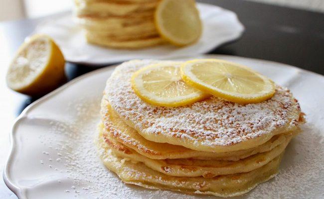 Лимонно-имбирные блины