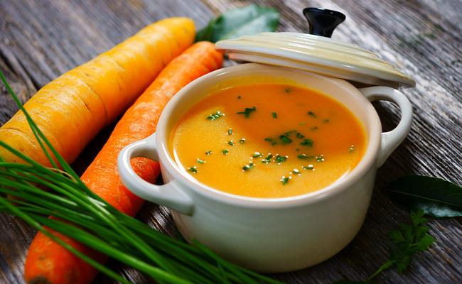 Рисовый суп-пюре с морковью