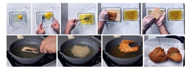 обжариваем курицу для чикенбургера