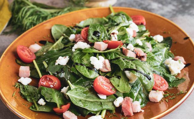 Витаминный салат с дижонской горчицей