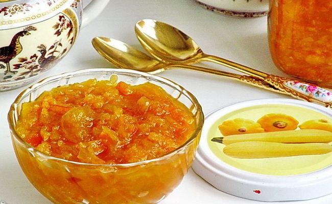 Готовим варенье из кабачков с курагой и лимоном