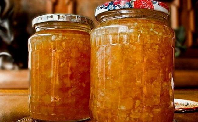 Вкусное варенье из кабачков с курагой и апельсином