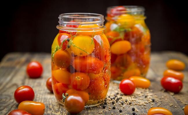Маринованные помидоры черри быстрого приготовления